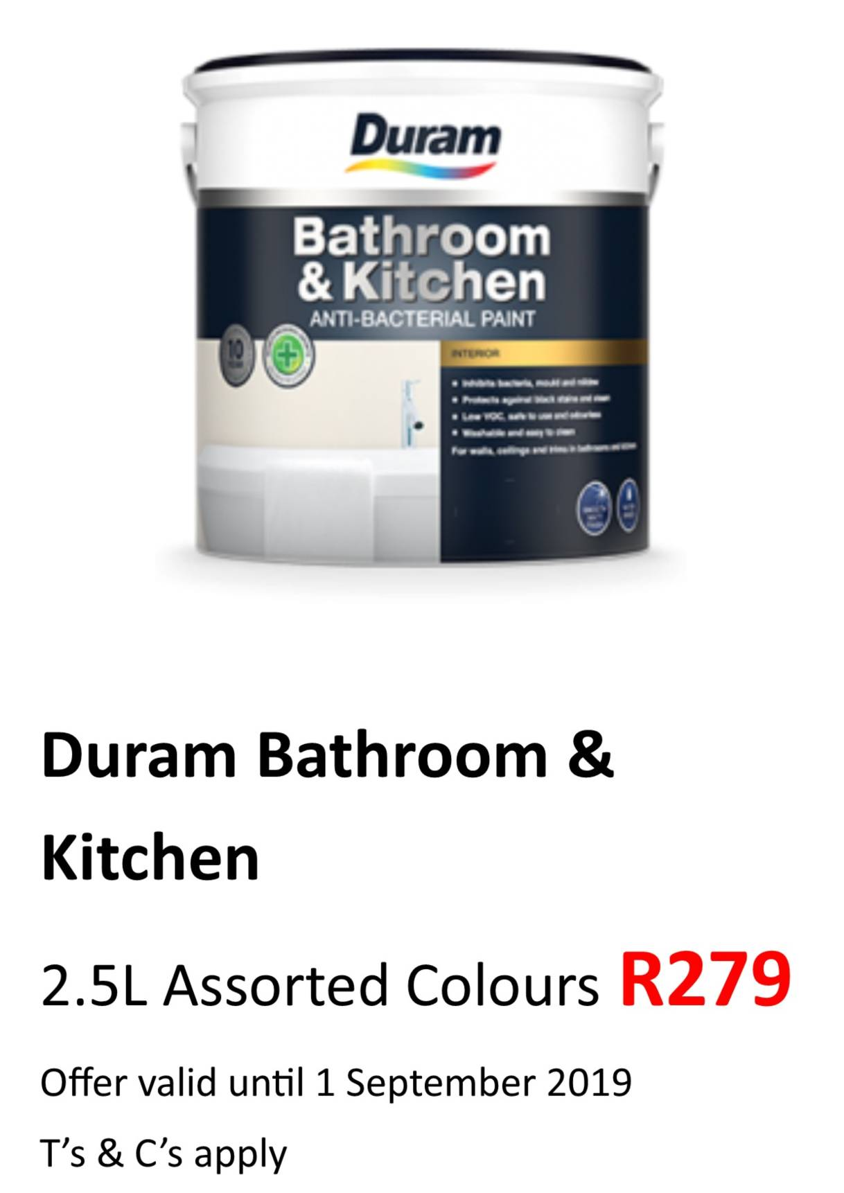Bathroom & Kitchen 2.5L Aug 2019