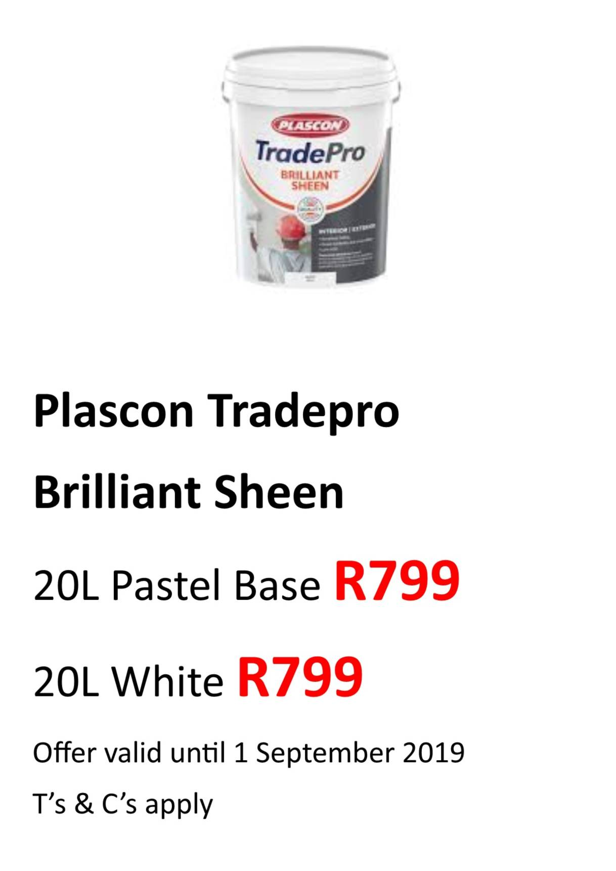 Tradepro 20 Brilliant sheen Aug 2019