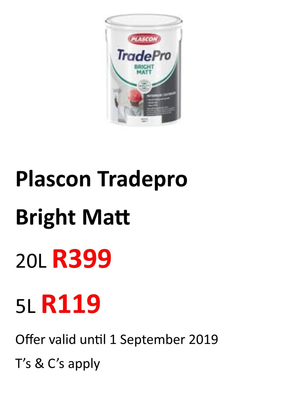 Tradepro Bright Matt Aug 2019
