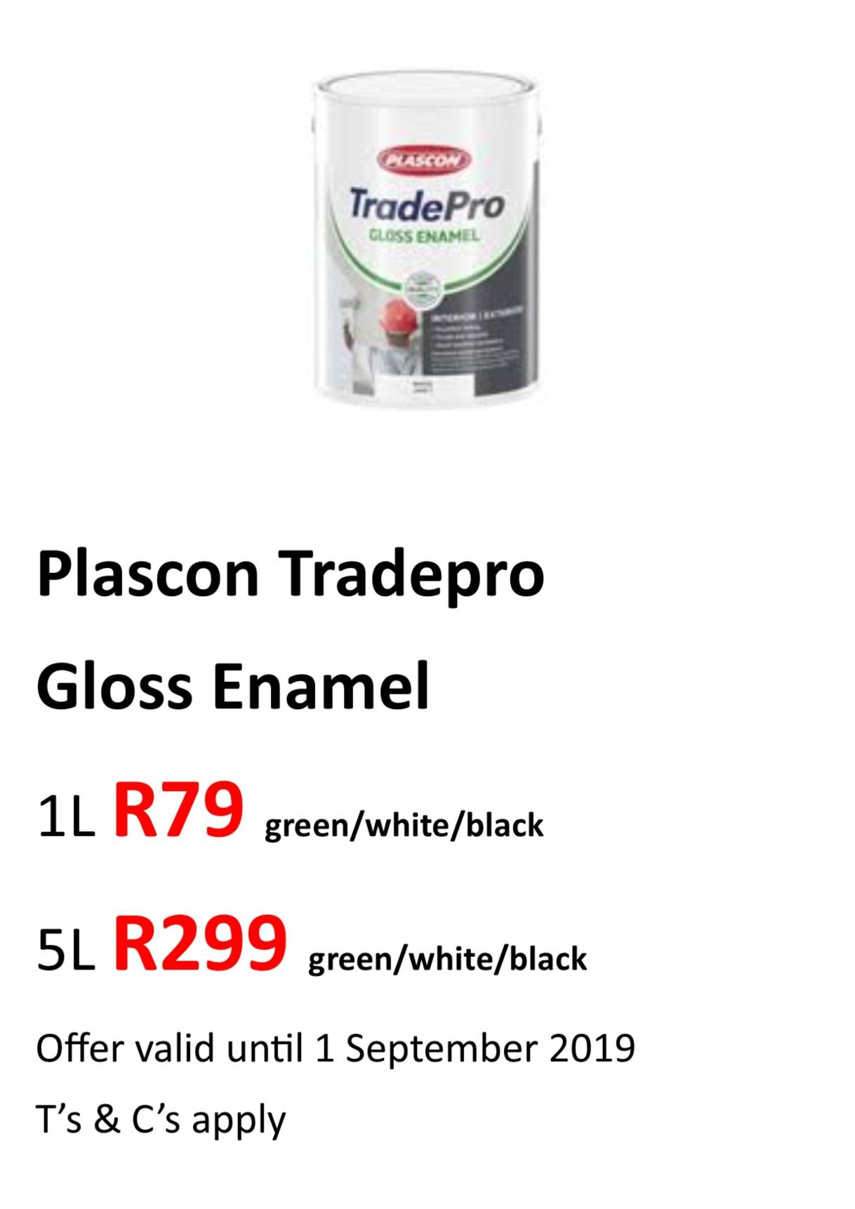 Tradepro gloss ename Aug 2019